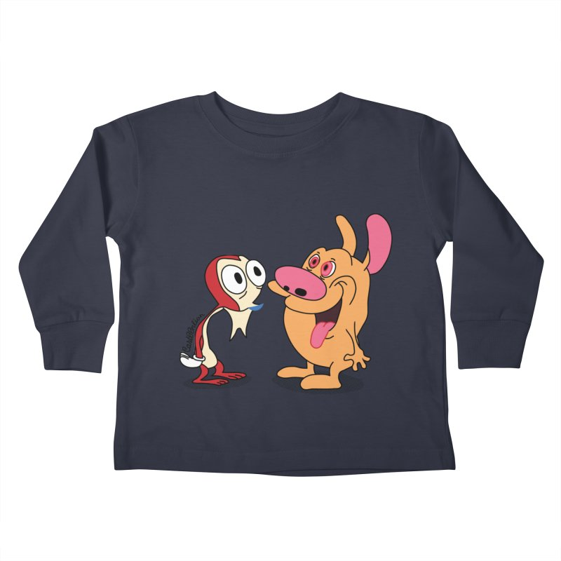 Sten & Rimpy Kids Toddler Longsleeve T-Shirt by Cart00nlion's Artist Shop