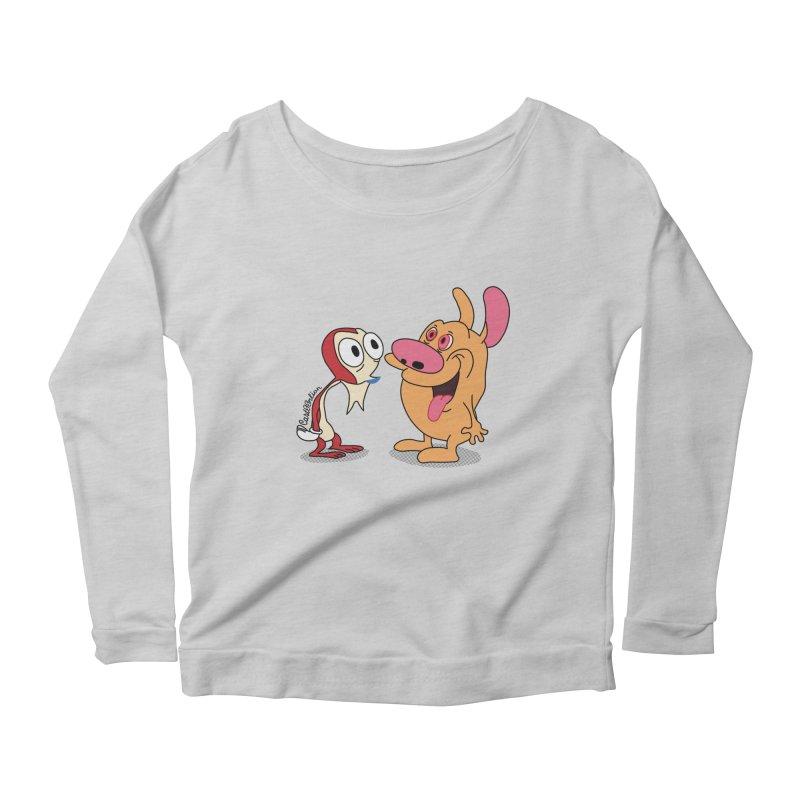 Sten & Rimpy Women's Scoop Neck Longsleeve T-Shirt by Cart00nlion's Artist Shop