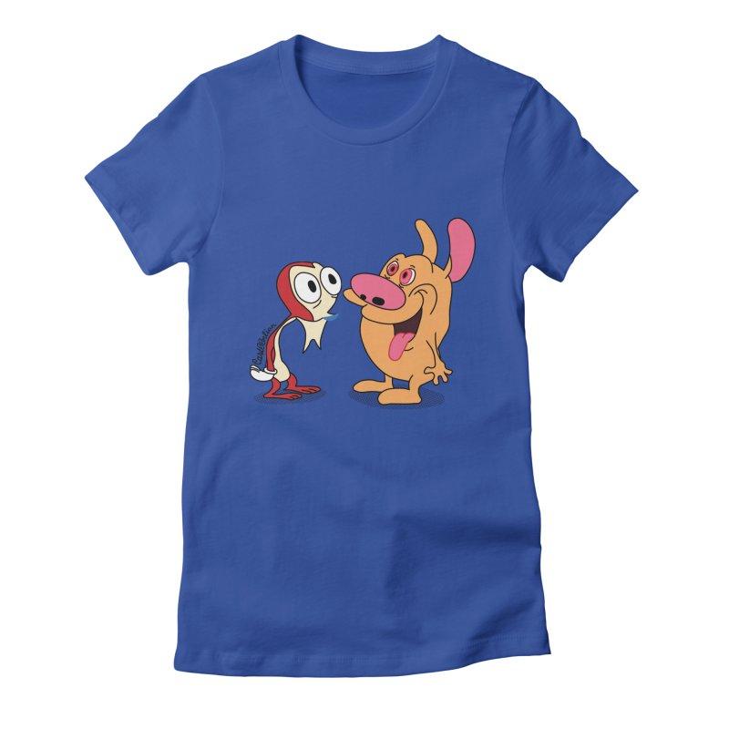 Sten & Rimpy Women's Fitted T-Shirt by Cart00nlion's Artist Shop