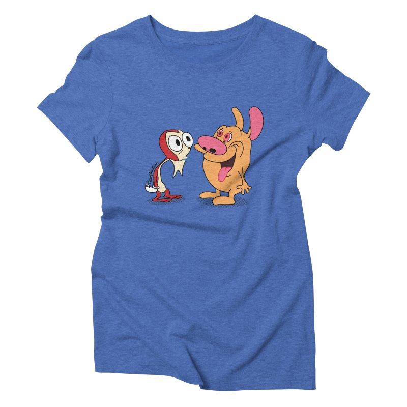 Sten & Rimpy Women's Triblend T-shirt by Cart00nlion's Artist Shop