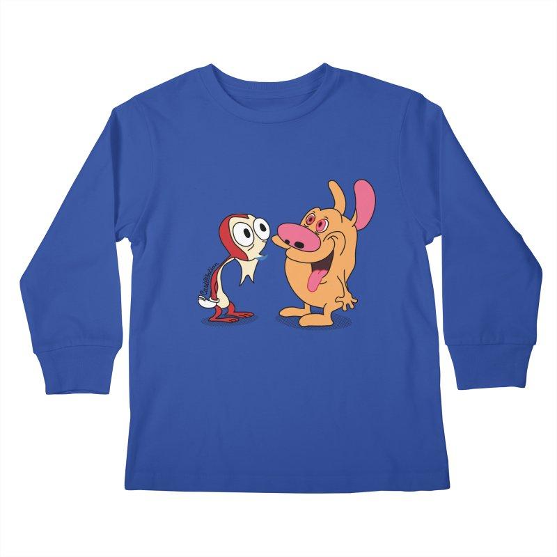 Sten & Rimpy Kids Longsleeve T-Shirt by Cart00nlion's Artist Shop