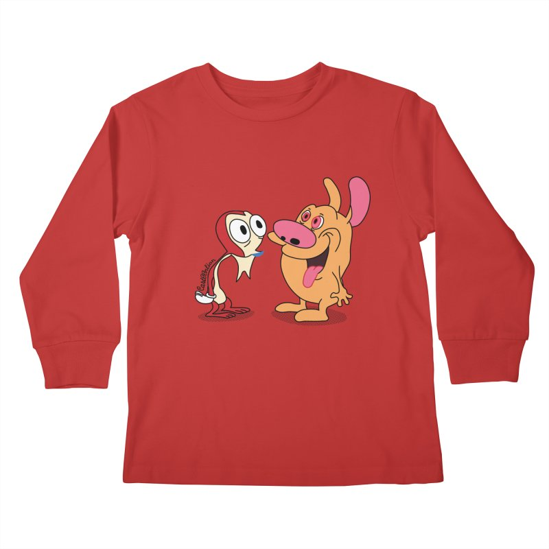 Sten & Rimpy Kids Longsleeve T-Shirt by Cart00nlion's Artist Shop