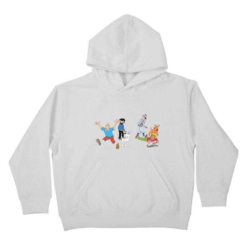 Tinspector Gadget Kids Pullover Hoody by Cart00nlion's Artist Shop