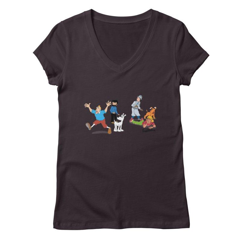 Tinspector Gadget Women's V-Neck by Cart00nlion's Artist Shop
