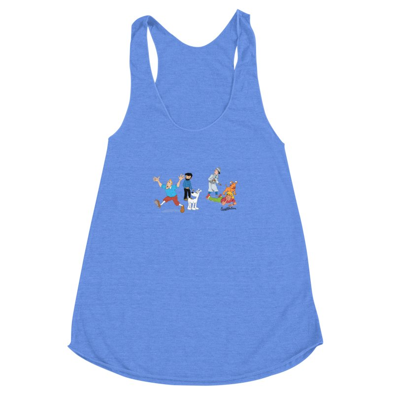 Tinspector Gadget Women's Racerback Triblend Tank by Cart00nlion's Artist Shop