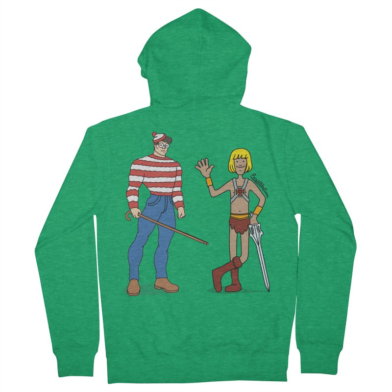 Where's Wal-Man? Men's Zip-Up Hoody by Cart00nlion's Artist Shop