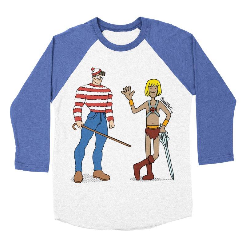 Where's Wal-Man? Women's Baseball Triblend T-Shirt by Cart00nlion's Artist Shop