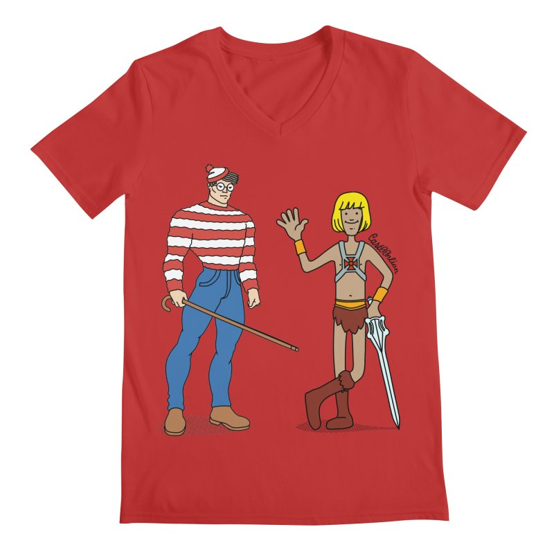 Where's Wal-Man? Men's V-Neck by Cart00nlion's Artist Shop
