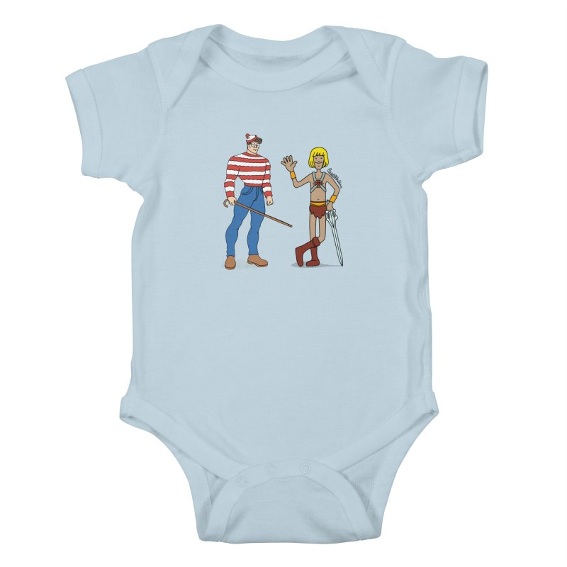 Where's Wal-Man? Kids Baby Bodysuit by Cart00nlion's Artist Shop