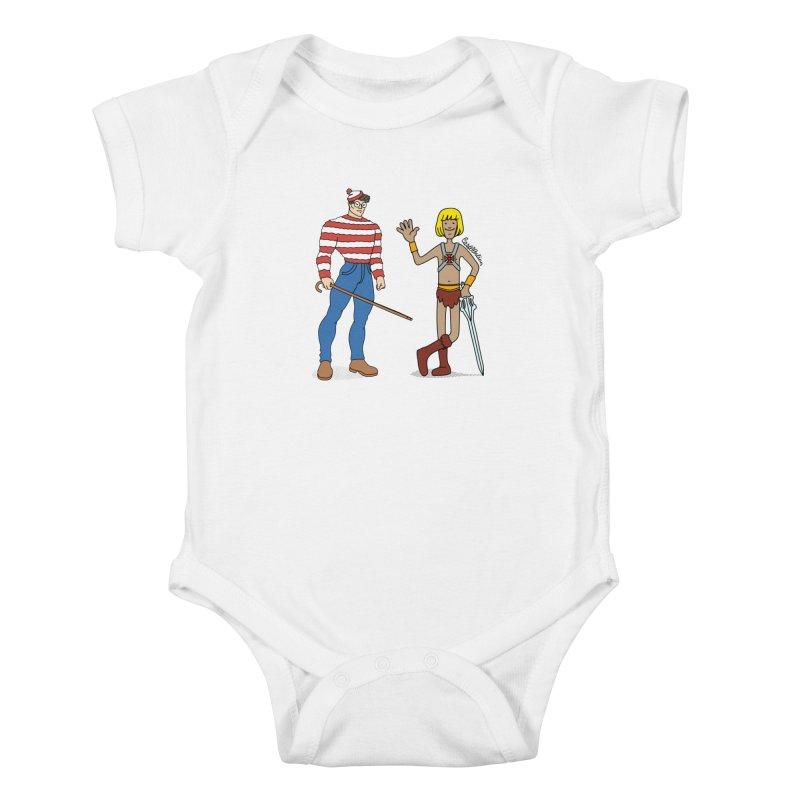 Where's Wal-Man? Kids Baby Bodysuit by Cart00nlion's Artist Shop