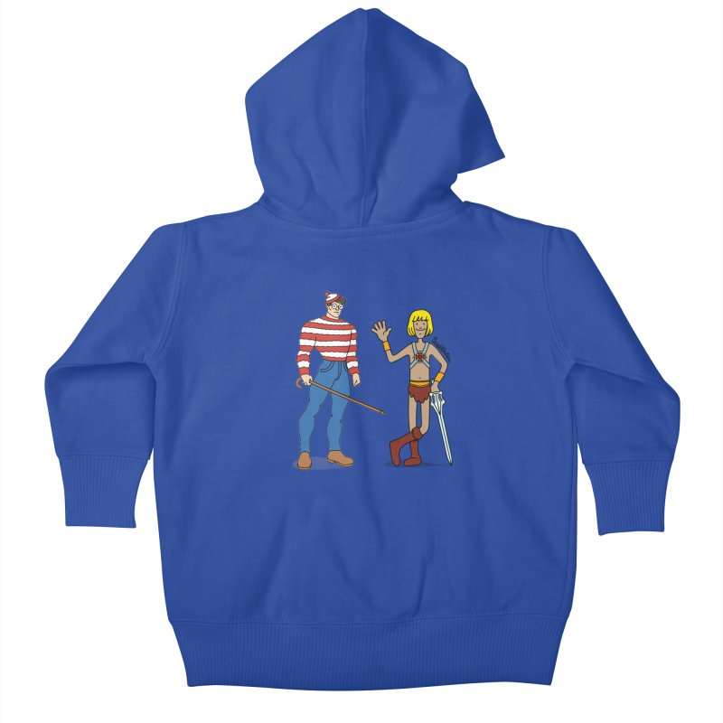 Where's Wal-Man? Kids Baby Zip-Up Hoody by Cart00nlion's Artist Shop