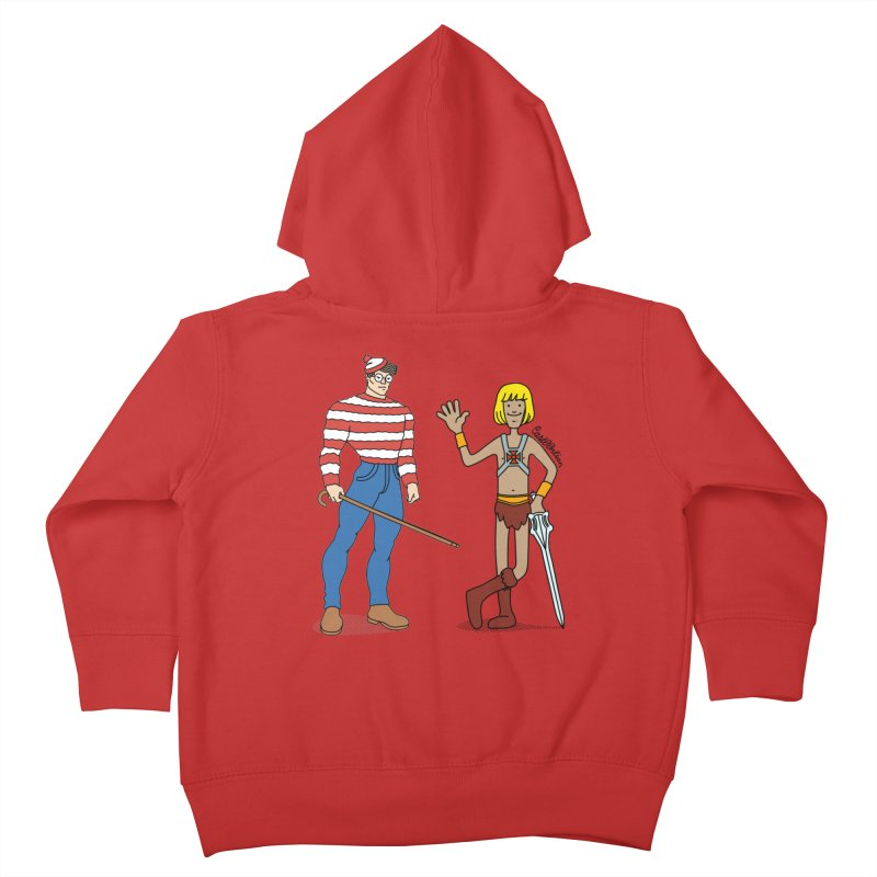 Where's Wal-Man? Kids Toddler Zip-Up Hoody by Cart00nlion's Artist Shop