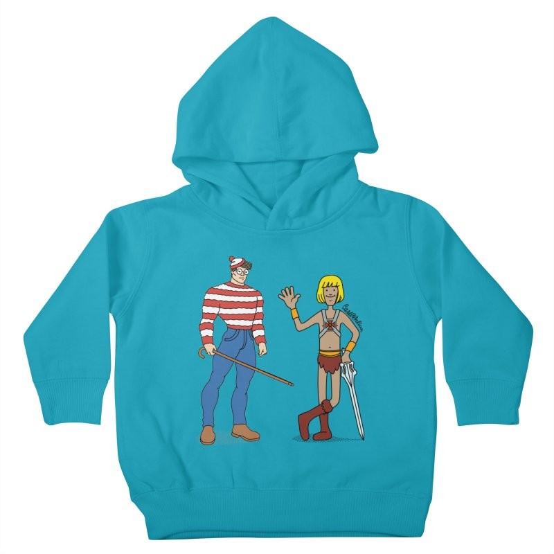 Where's Wal-Man? Kids Toddler Pullover Hoody by Cart00nlion's Artist Shop
