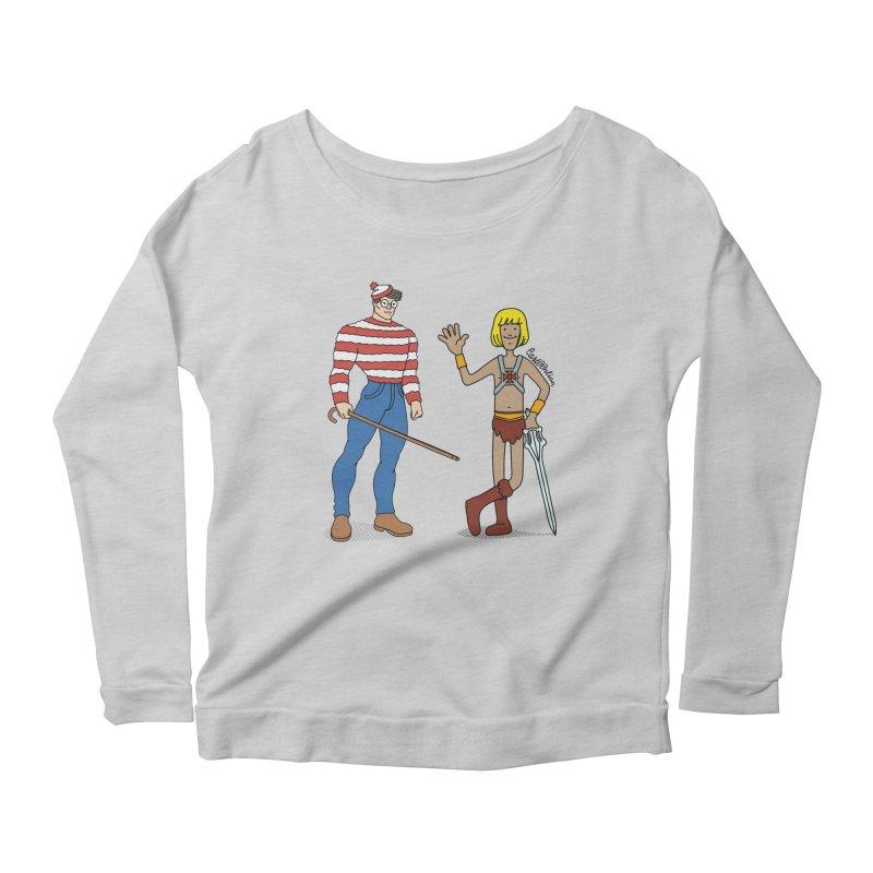 Where's Wal-Man? Women's Scoop Neck Longsleeve T-Shirt by Cart00nlion's Artist Shop