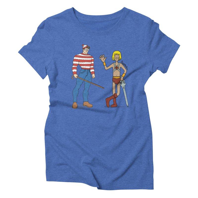 Where's Wal-Man? Women's Triblend T-Shirt by Cart00nlion's Artist Shop