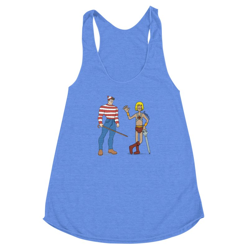 Where's Wal-Man? Women's Racerback Triblend Tank by Cart00nlion's Artist Shop