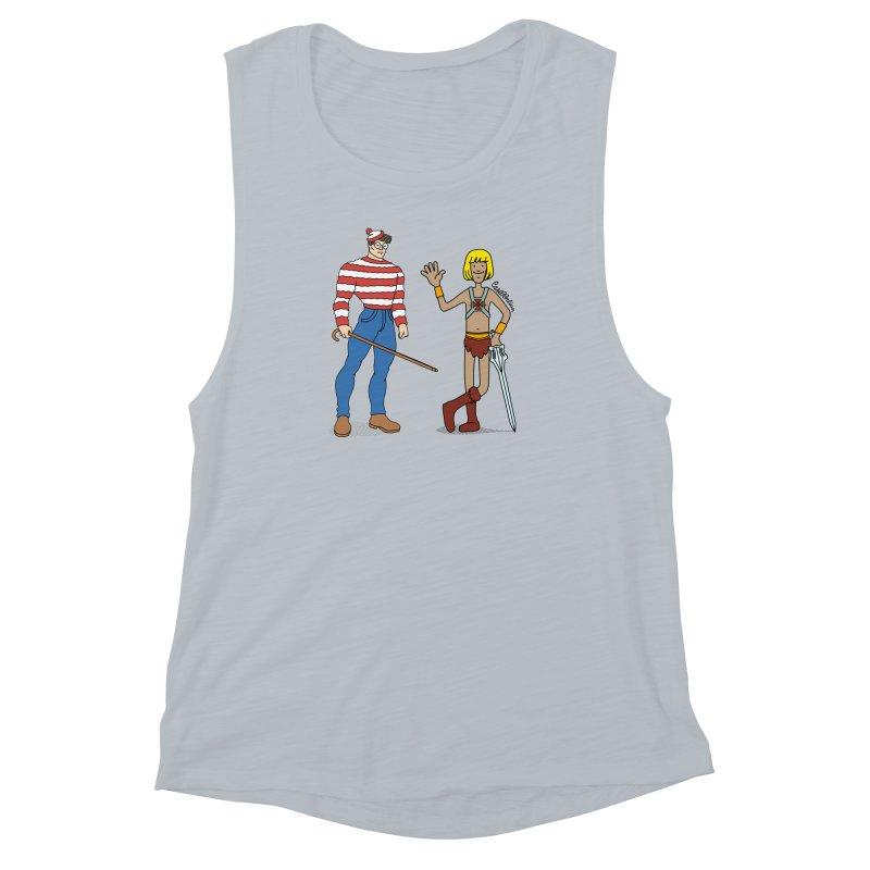 Where's Wal-Man? Women's Muscle Tank by Cart00nlion's Artist Shop