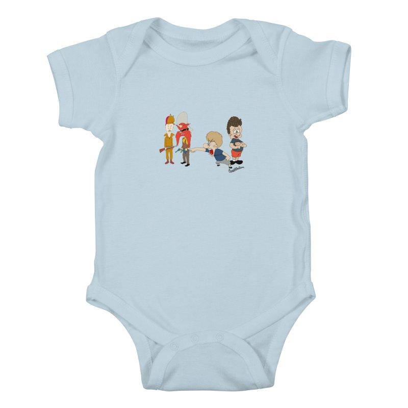 Yoseavis & Fuddhead Kids Baby Bodysuit by Cart00nlion's Artist Shop