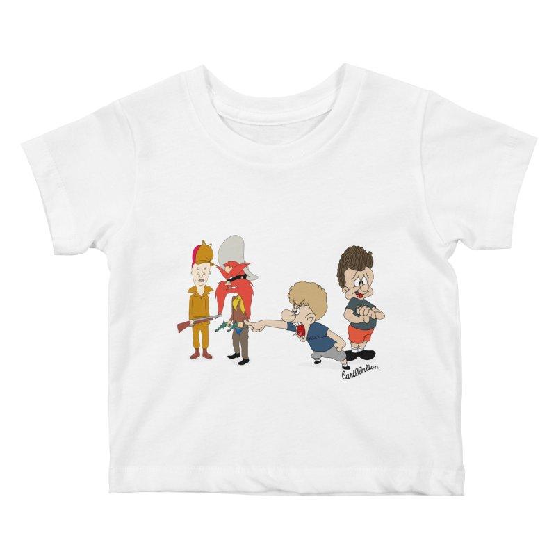 Yoseavis & Fuddhead Kids Baby T-Shirt by Cart00nlion's Artist Shop