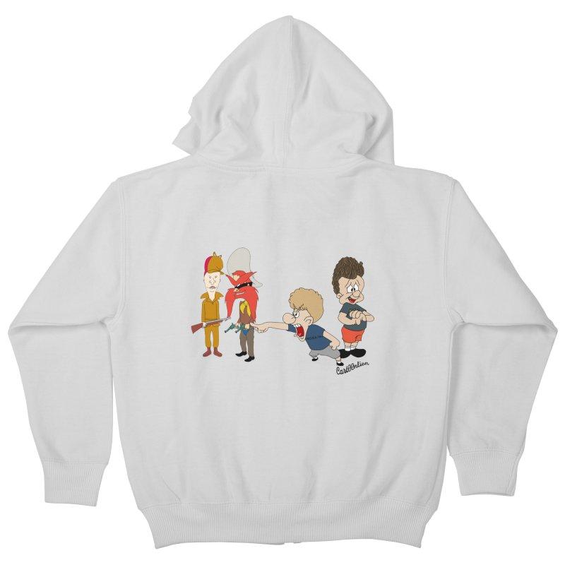 Yoseavis & Fuddhead Kids Zip-Up Hoody by Cart00nlion's Artist Shop