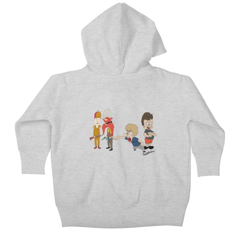 Yoseavis & Fuddhead Kids Baby Zip-Up Hoody by Cart00nlion's Artist Shop