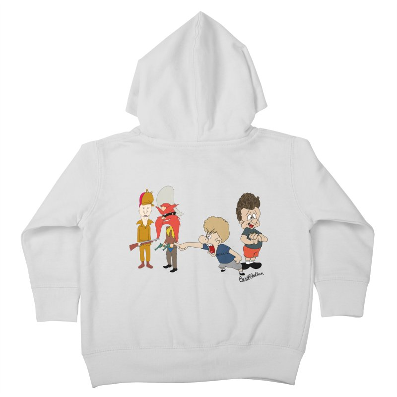 Yoseavis & Fuddhead Kids Toddler Zip-Up Hoody by Cart00nlion's Artist Shop