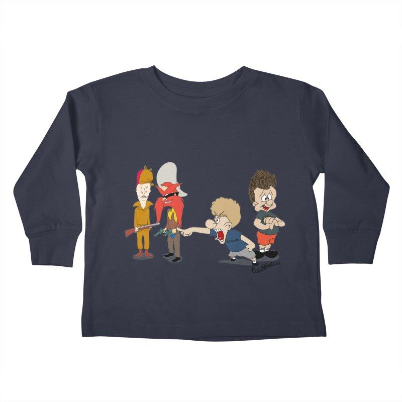 Yoseavis & Fuddhead Kids Toddler Longsleeve T-Shirt by Cart00nlion's Artist Shop