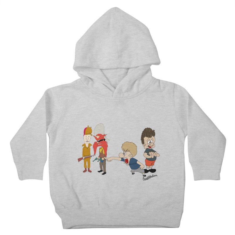 Yoseavis & Fuddhead Kids Toddler Pullover Hoody by Cart00nlion's Artist Shop