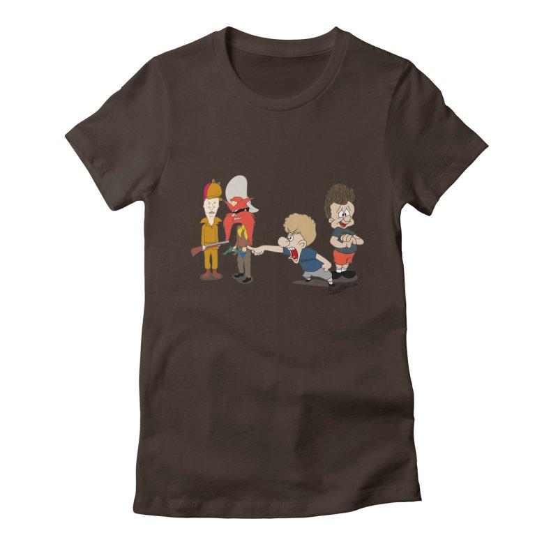 Yoseavis & Fuddhead Women's Fitted T-Shirt by Cart00nlion's Artist Shop