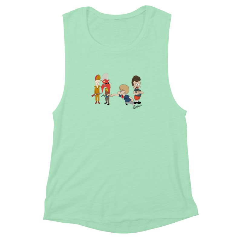 Yoseavis & Fuddhead Women's Muscle Tank by Cart00nlion's Artist Shop