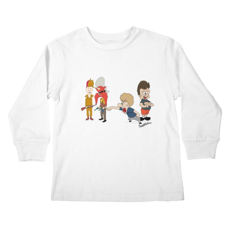 Yoseavis & Fuddhead Kids Longsleeve T-Shirt by Cart00nlion's Artist Shop