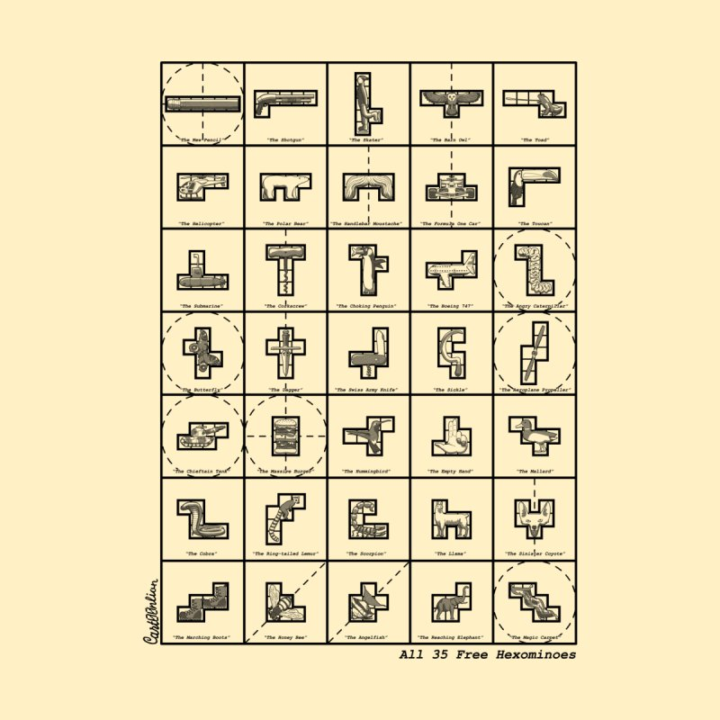 All 35 Free Hexominoes by Cart00nlion's Artist Shop