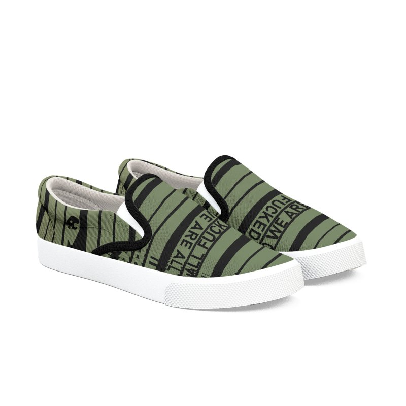 CasaNorte - CodeL Men's Slip-On Shoes by Casa Norte's Artist Shop