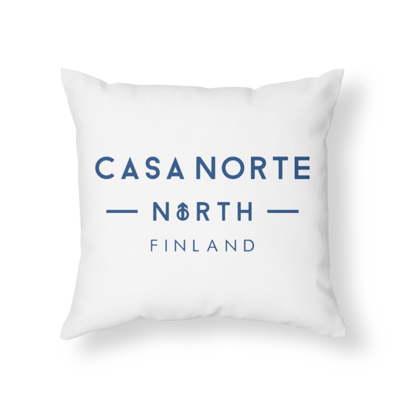 CasaNorte - FinCasa Home Throw Pillow by Casa Norte's Artist Shop