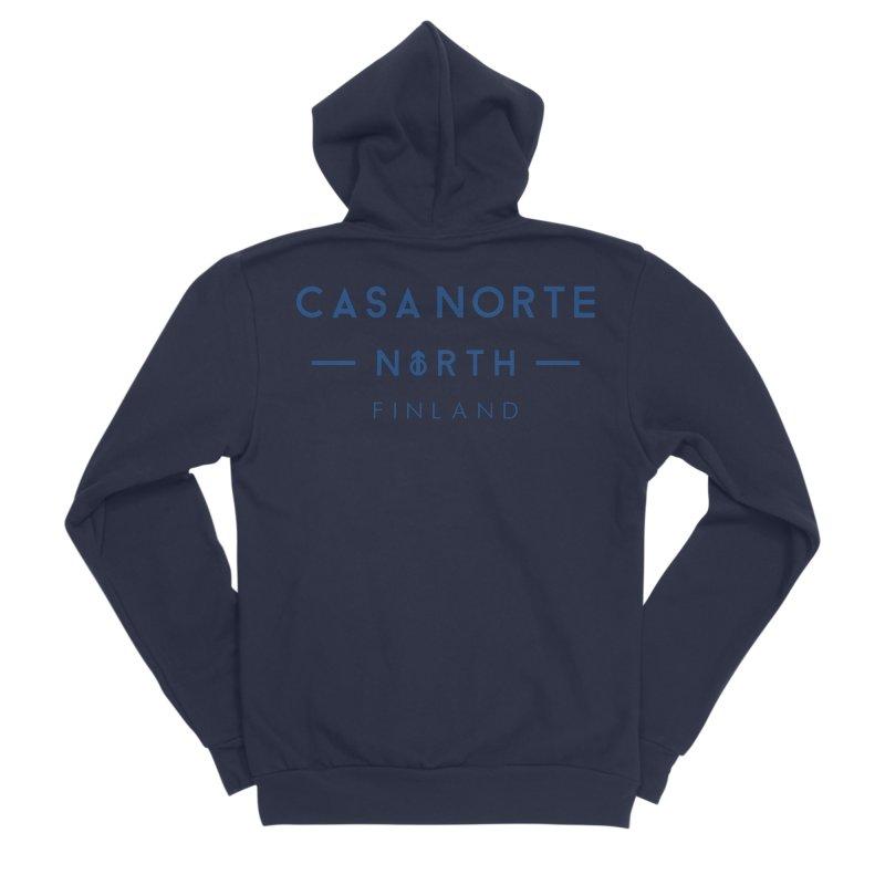 CasaNorte - FinCasa Men's Sponge Fleece Zip-Up Hoody by Casa Norte's Artist Shop
