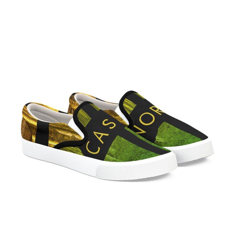 CasaNorte- Oil Men's Slip-On Shoes by Casa Norte's Artist Shop