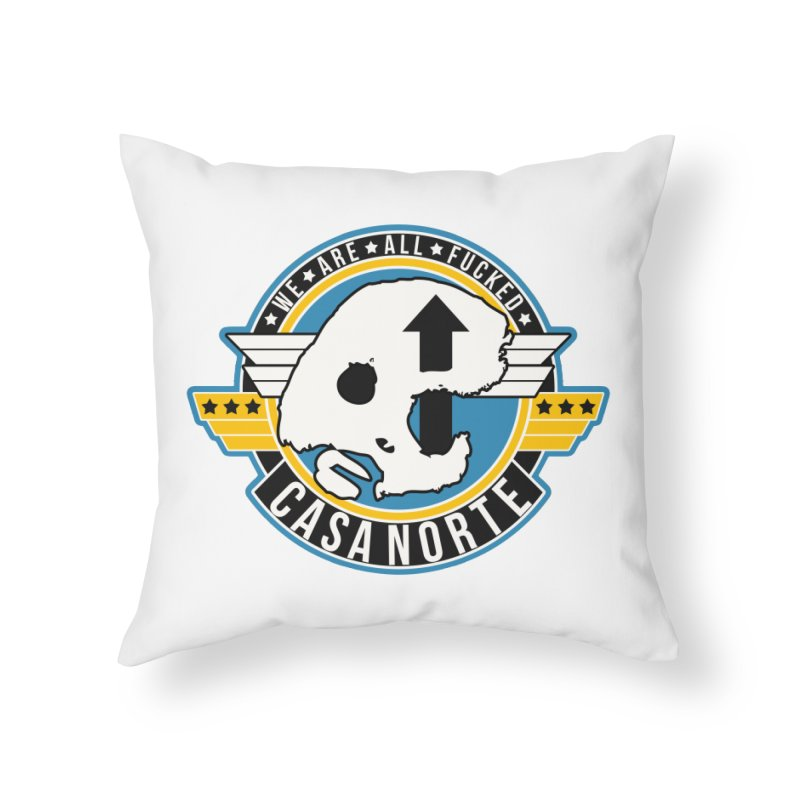 CasaNorte - Fly Home Throw Pillow by Casa Norte's Artist Shop