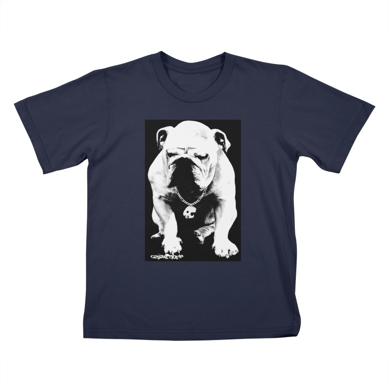 CasaNorte - BullDog Kids T-Shirt by Casa Norte's Artist Shop