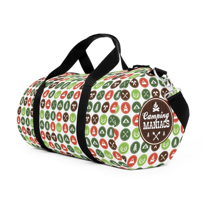 Camping Maniacs 3 Accessories Duffel Bag Bag by Casa Norte's Artist Shop