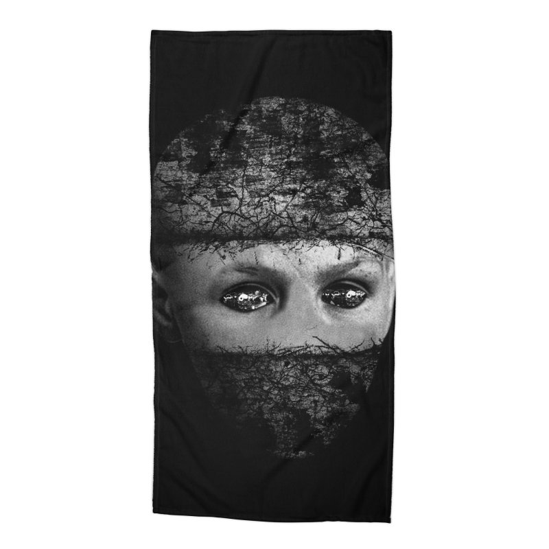 CasaNorte - FaceEye Accessories Beach Towel by Casa Norte's Artist Shop