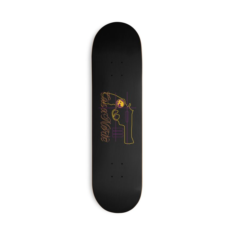 CasaNorte - Guns Accessories Skateboard by Casa Norte's Artist Shop