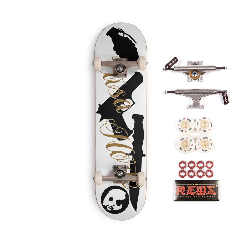 CasaNorte - War Accessories Skateboard by Casa Norte's Artist Shop