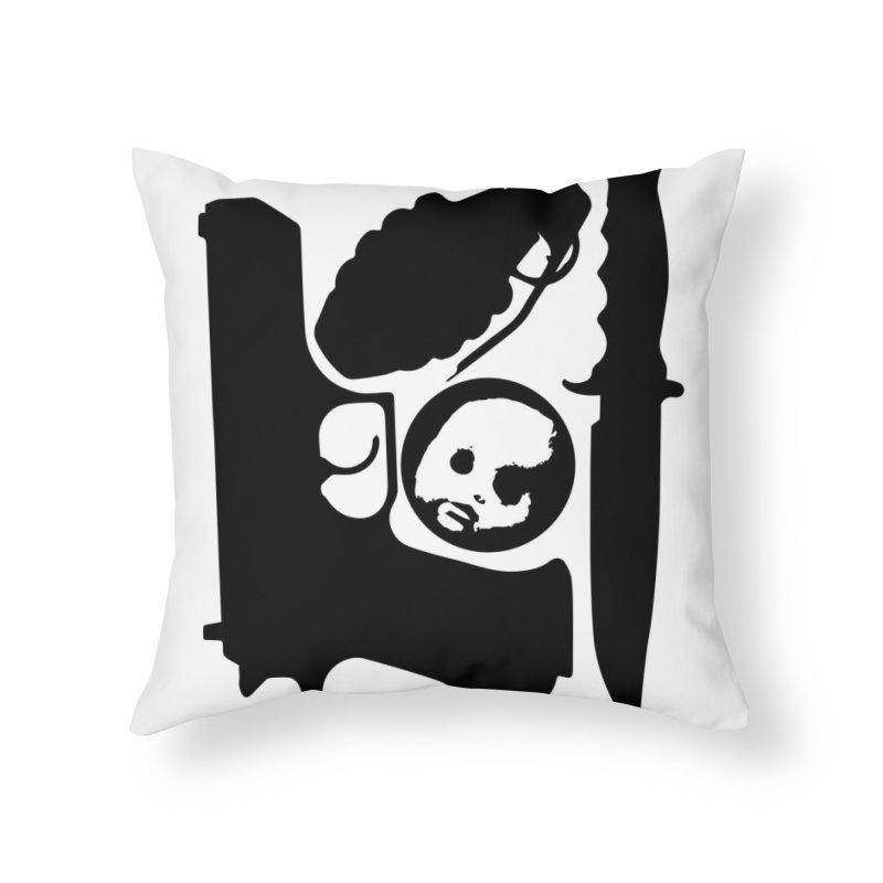 CasaNorte - War Home Throw Pillow by Casa Norte's Artist Shop