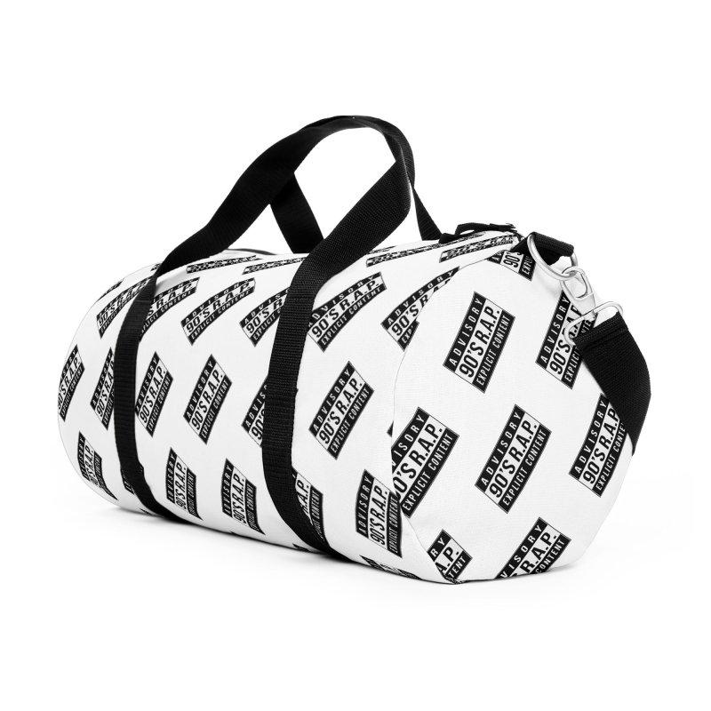 90sRAP - ExplicitS Accessories Duffel Bag Bag by Casa Norte's Artist Shop