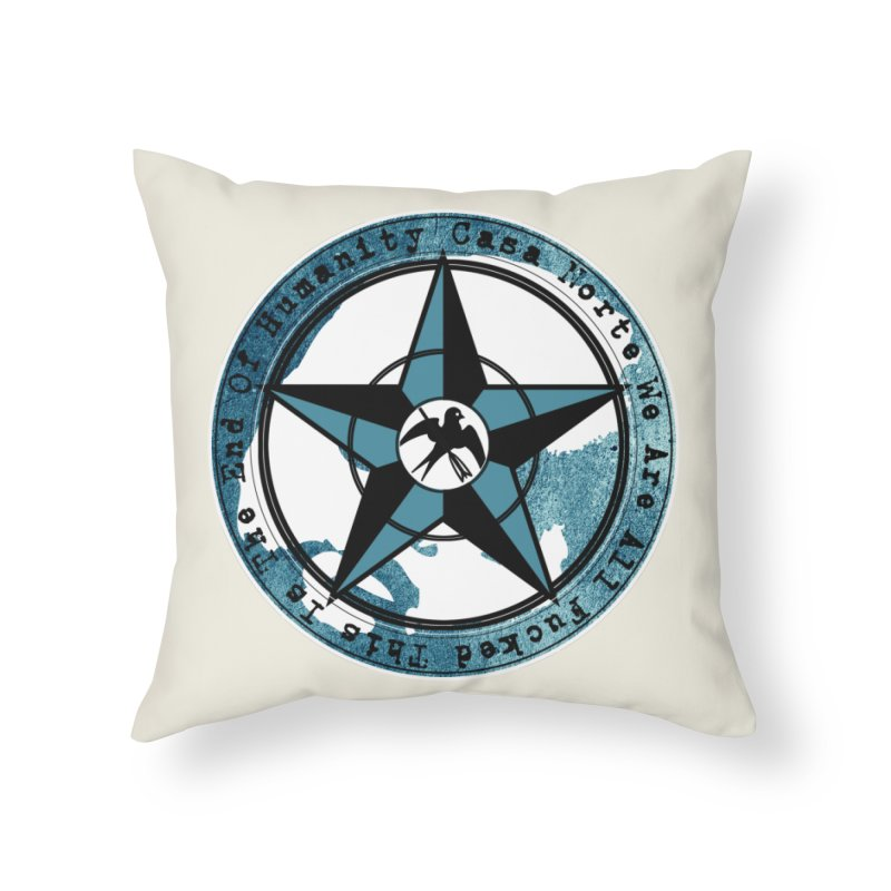 CasaNorte - Swallow Home Throw Pillow by CasaNorte's Artist Shop