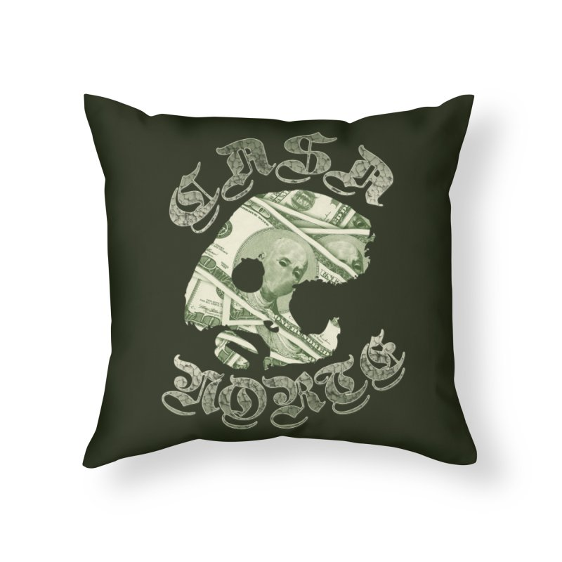 CasaNorte - Money Home Throw Pillow by CasaNorte's Artist Shop