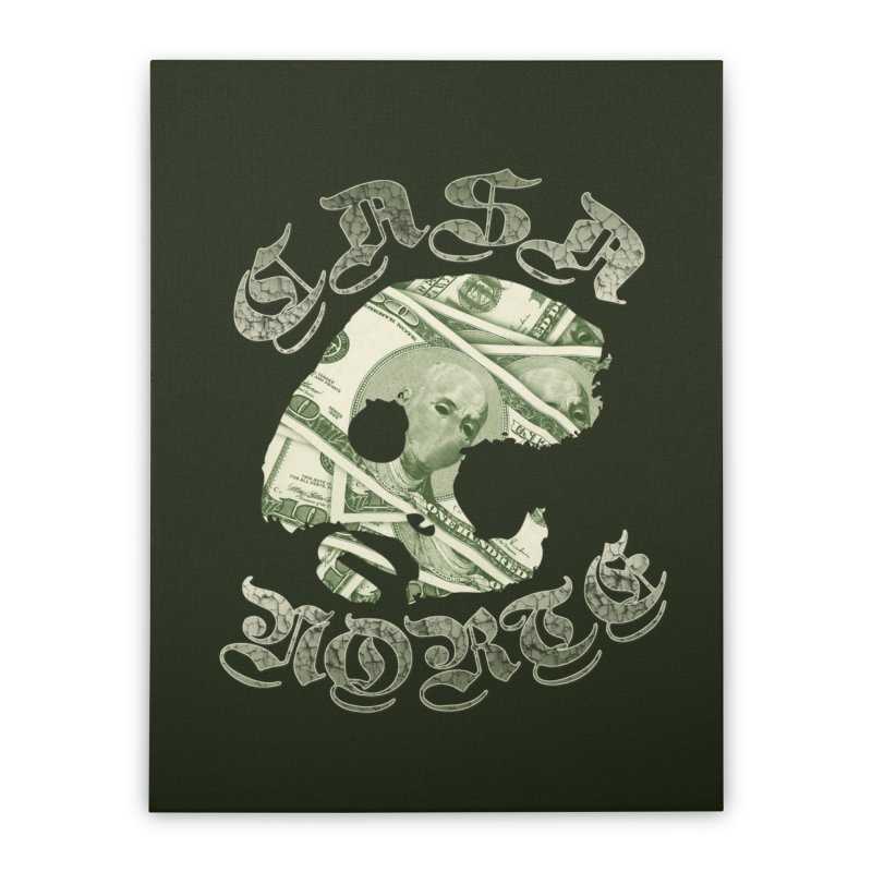CasaNorte - Money Home Stretched Canvas by CasaNorte's Artist Shop