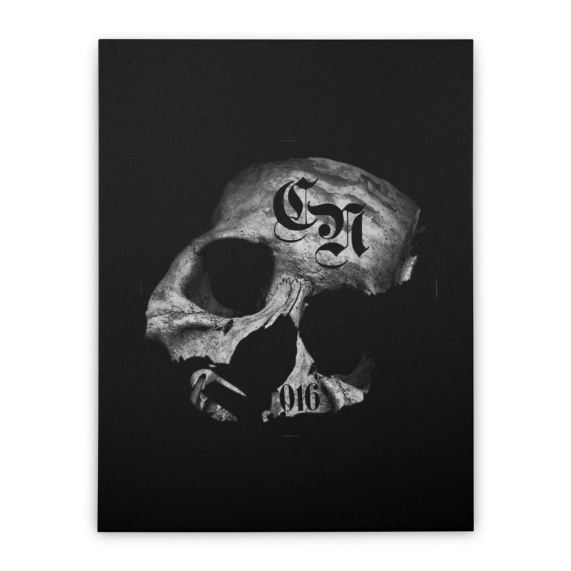CasaNorte - BlackDeath Home Stretched Canvas by CasaNorte's Artist Shop