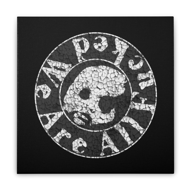 CasaNorte - WeRFucPatch Home Stretched Canvas by CasaNorte's Artist Shop