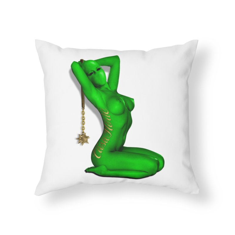 CasaNorte - DUGreen Home Throw Pillow by CasaNorte's Artist Shop
